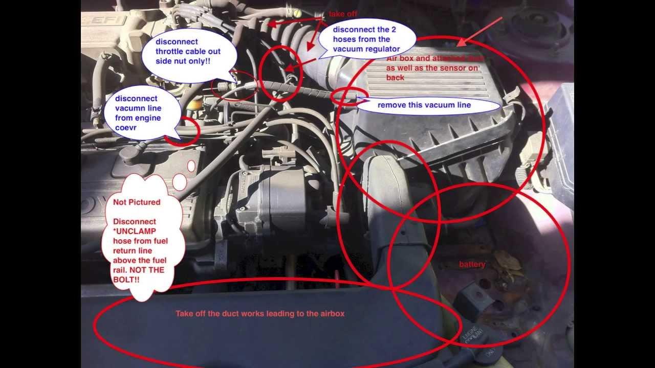 1991 Toyota Celica Vacuum Diagram Wiring Schematic Egr Valve For Toyota Paseo 1992 1993 1994 Smog Check Youtube