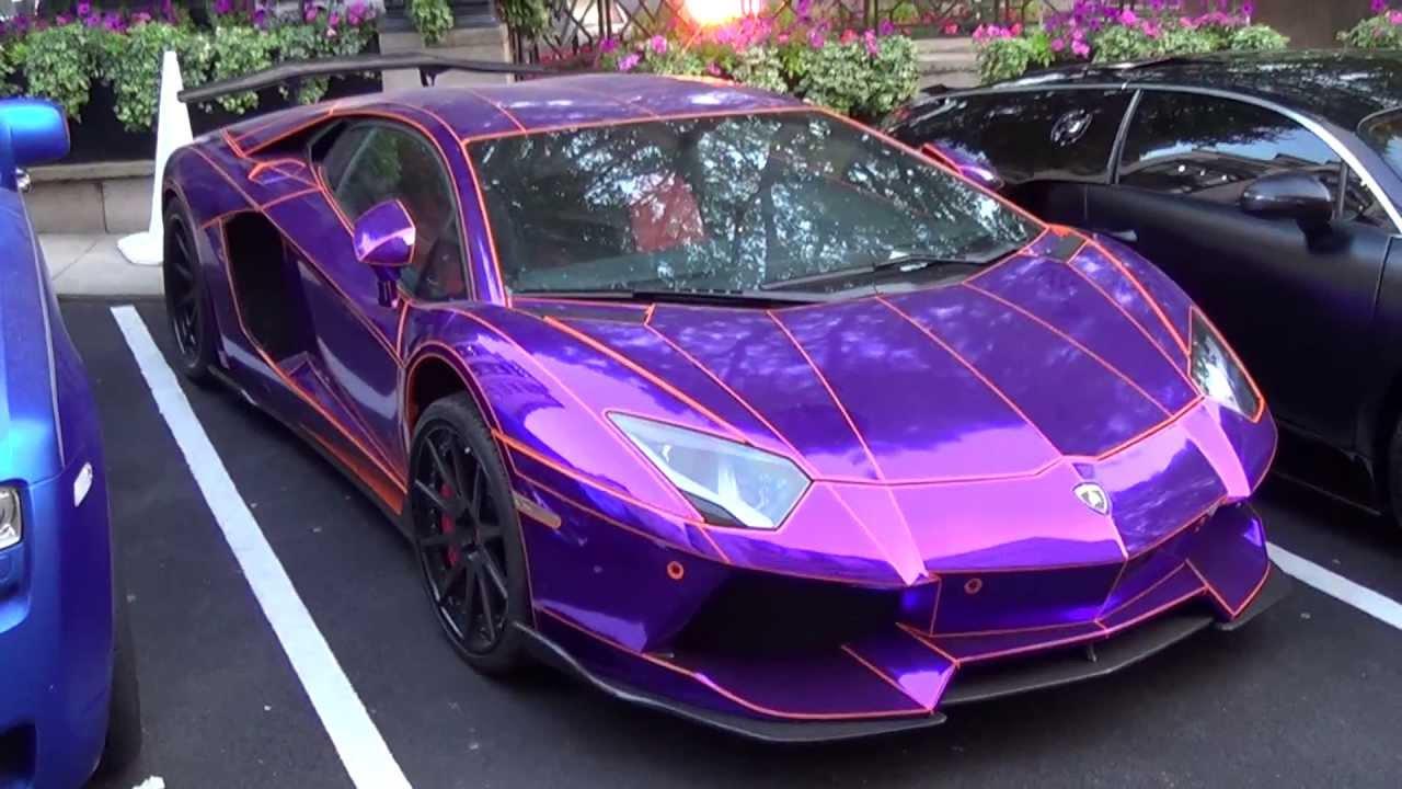 Sports Car Wallpaper Lamborghini 3d Epic Chrome Purple Lamborghini Aventador By Lb Performance