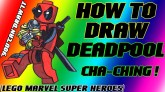 How To Draw Deadpool from Lego Marvel Super Heroes YouCanDrawIt