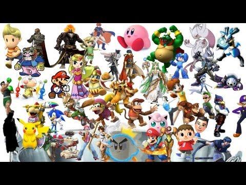 50 Super Smash Bros 4 Character Predictions!!