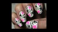 Rock Star Zebra Nail Design - YouTube