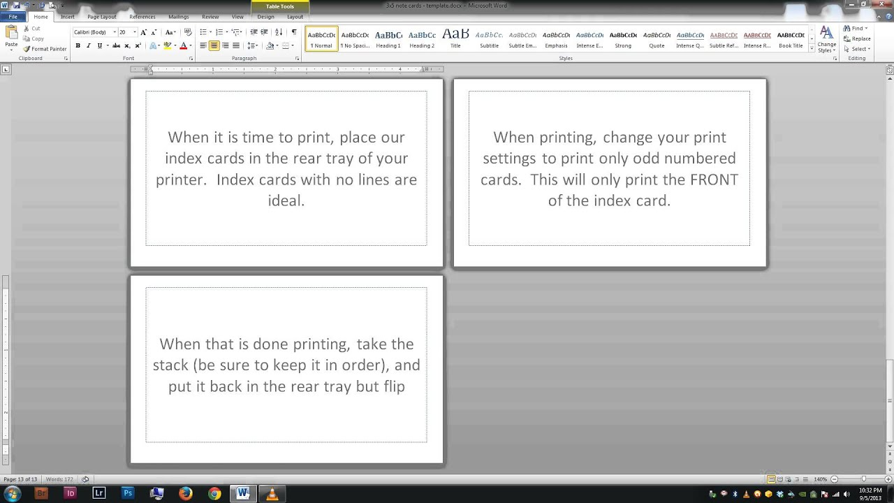 print 3x5 index cards