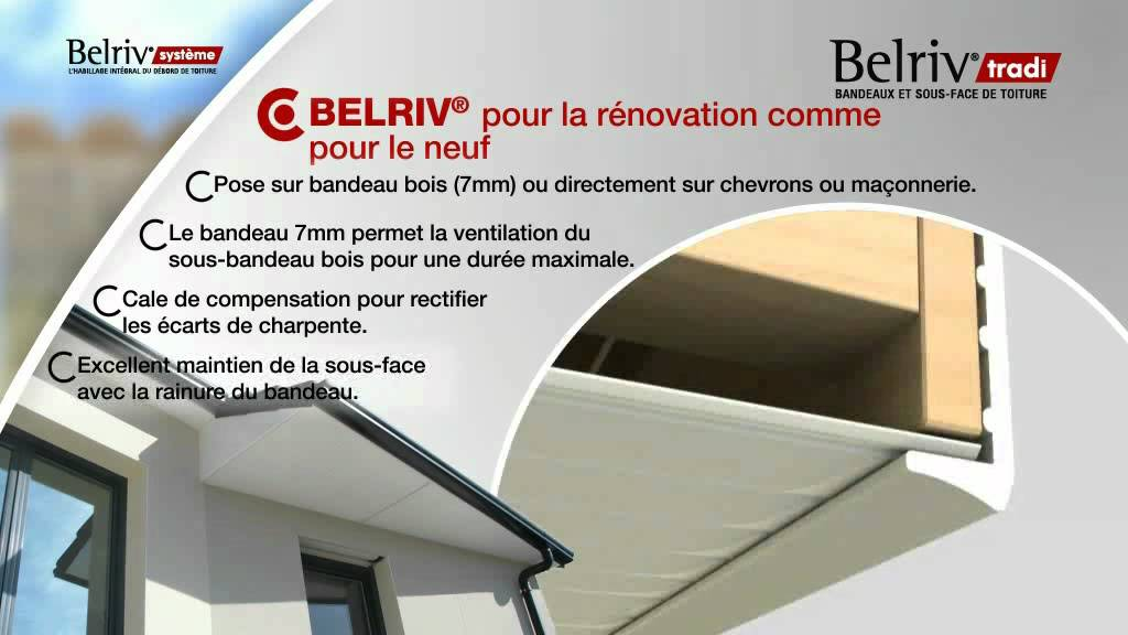 Volet Roulant Exterieur Renovation Belriv® Basic : L'habillage Du Debord Des Toitures - Youtube