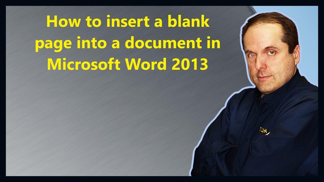 blank microsoft word document