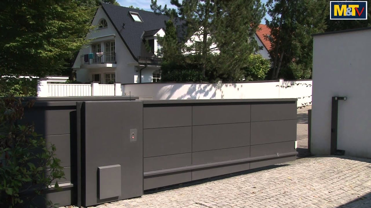 Zaun Metall M&t-metallbaupreis 2012: Freitragendes Schiebetor - Youtube