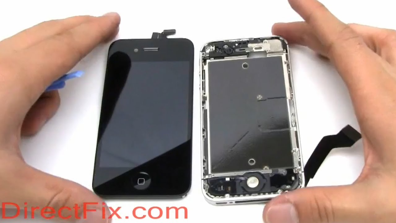 Iphone X Teardown Wallpaper How To Replace Iphone 4s Screen Directfix Com Youtube
