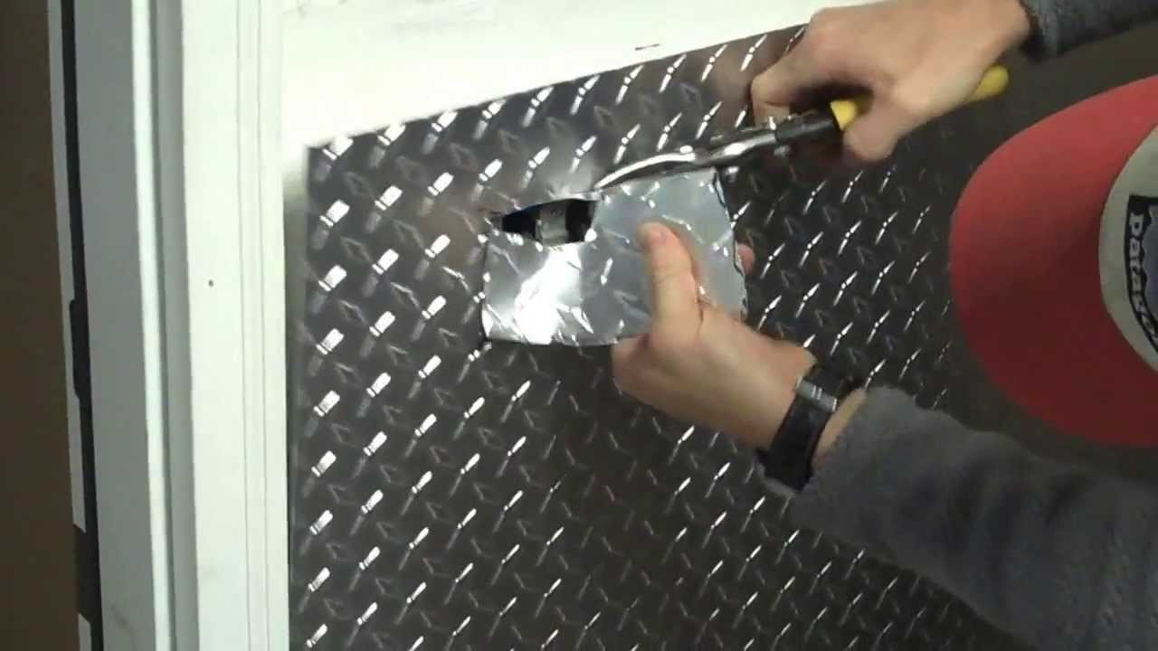 3d Embossed Brick Wallpaper Part 1 Installing Aluminum Diamond Plate Wall Panels In