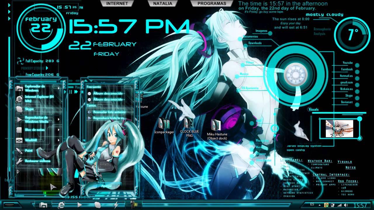 3d Wallpaper Sword Art Online Interactive Hd 030 Tema Win 7 Miku Hatsune Youtube