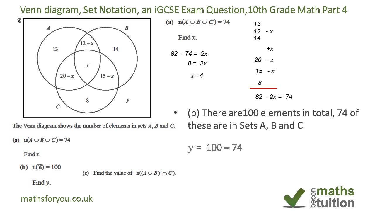 venn diagram test questions