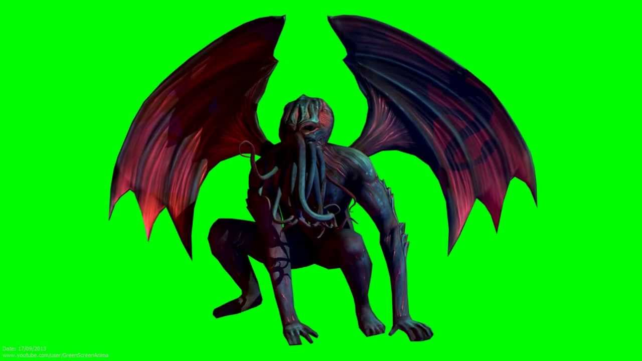 Wallpapers Hd Animated 3d Moving Monster Cthulhu 3d Animation 1080p S01r01 Green Screen