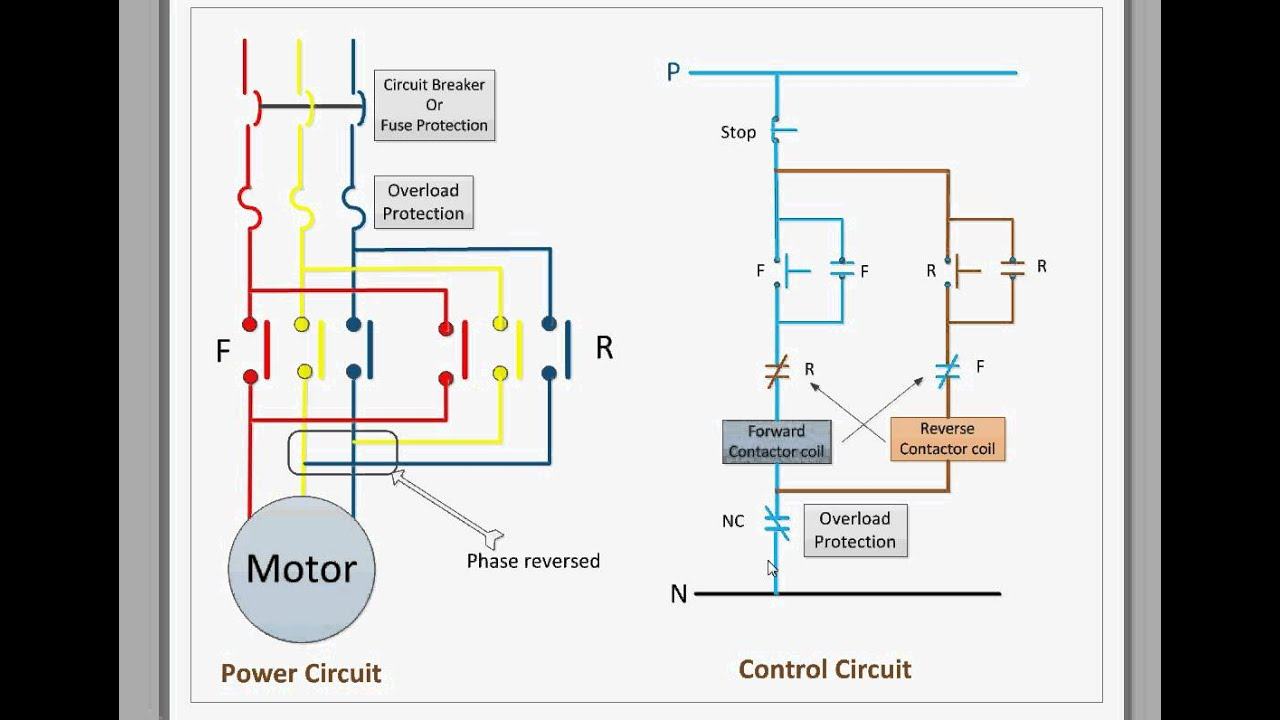 Garage Door Wiring Schematic Control Circuit For Forward And Reverse Motor Youtube