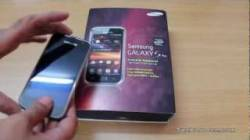 Video Samsung Galaxy S Plus My New Android Phone Unboxing