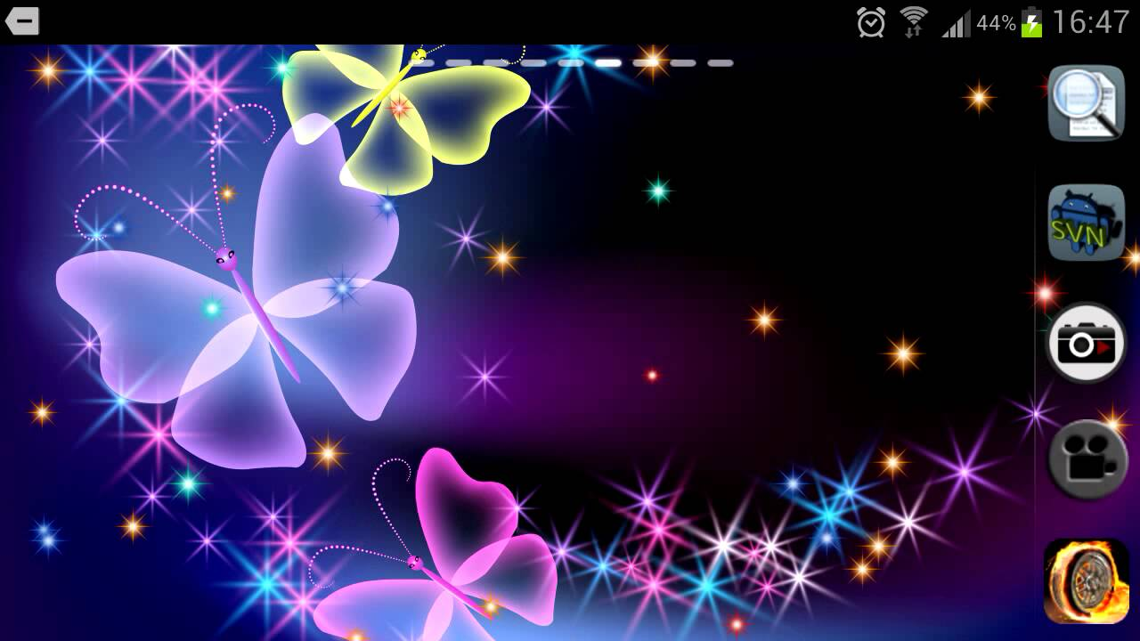 3d Moving Wallpapers For Android Phones Glitter And Sparkle Effect Butterfly Live Wallpaper For