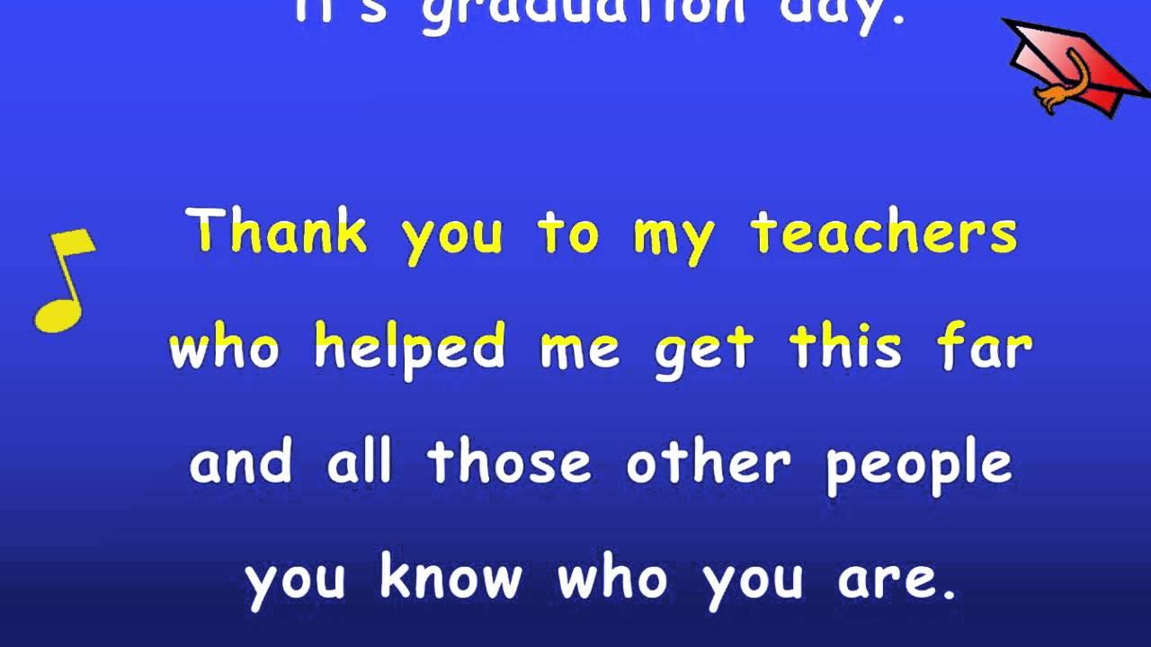 Tagalog Love Quotes Wallpaper Free Download Kindergarten Graduation Song With Lyrics Karaoke Sing