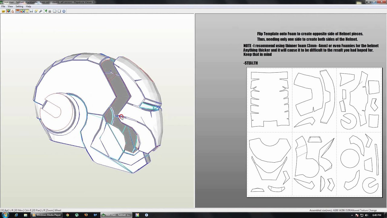 Paper Craft New 350 Papercraft Iron Man Full Armor