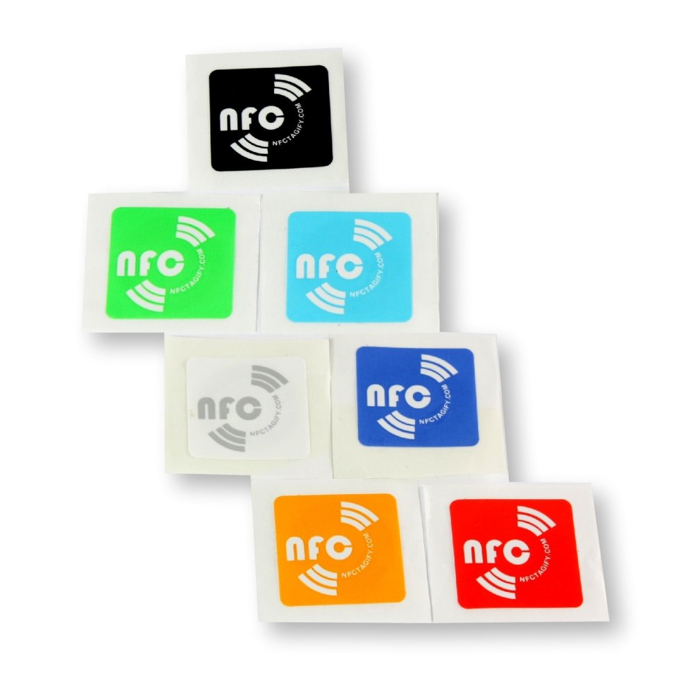 Nfc Tags 14 X Nfc Tags Ntag213 Coloured Oblong Stickers Genuine Chip Developed By Nxp Semiconductors 144 Bytes Memory Password Verification Protection