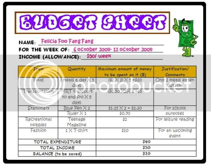 Mock Budget Worksheet Image collections - worksheet for kids maths