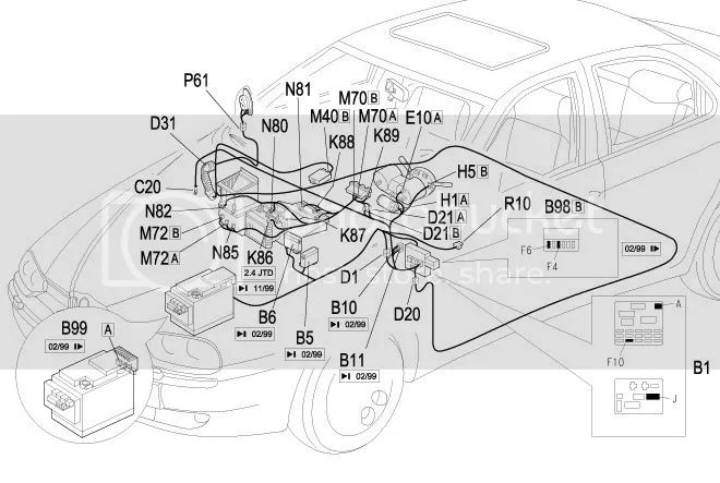 2001 alfa romeo 147 fuse box diagram