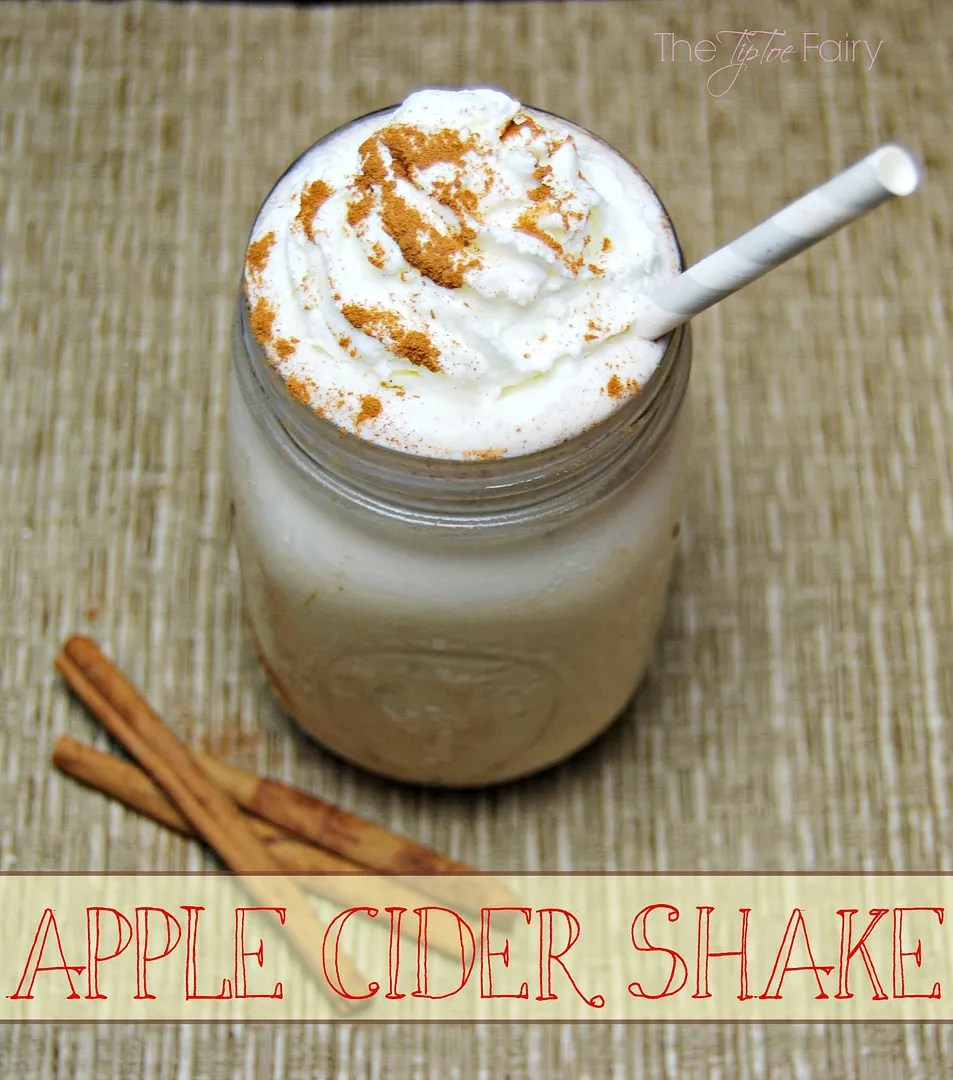Apple Cider Shake | The TipToe Fairy #applecider #milkshakerecipes #drinkrecipes #applerecipes