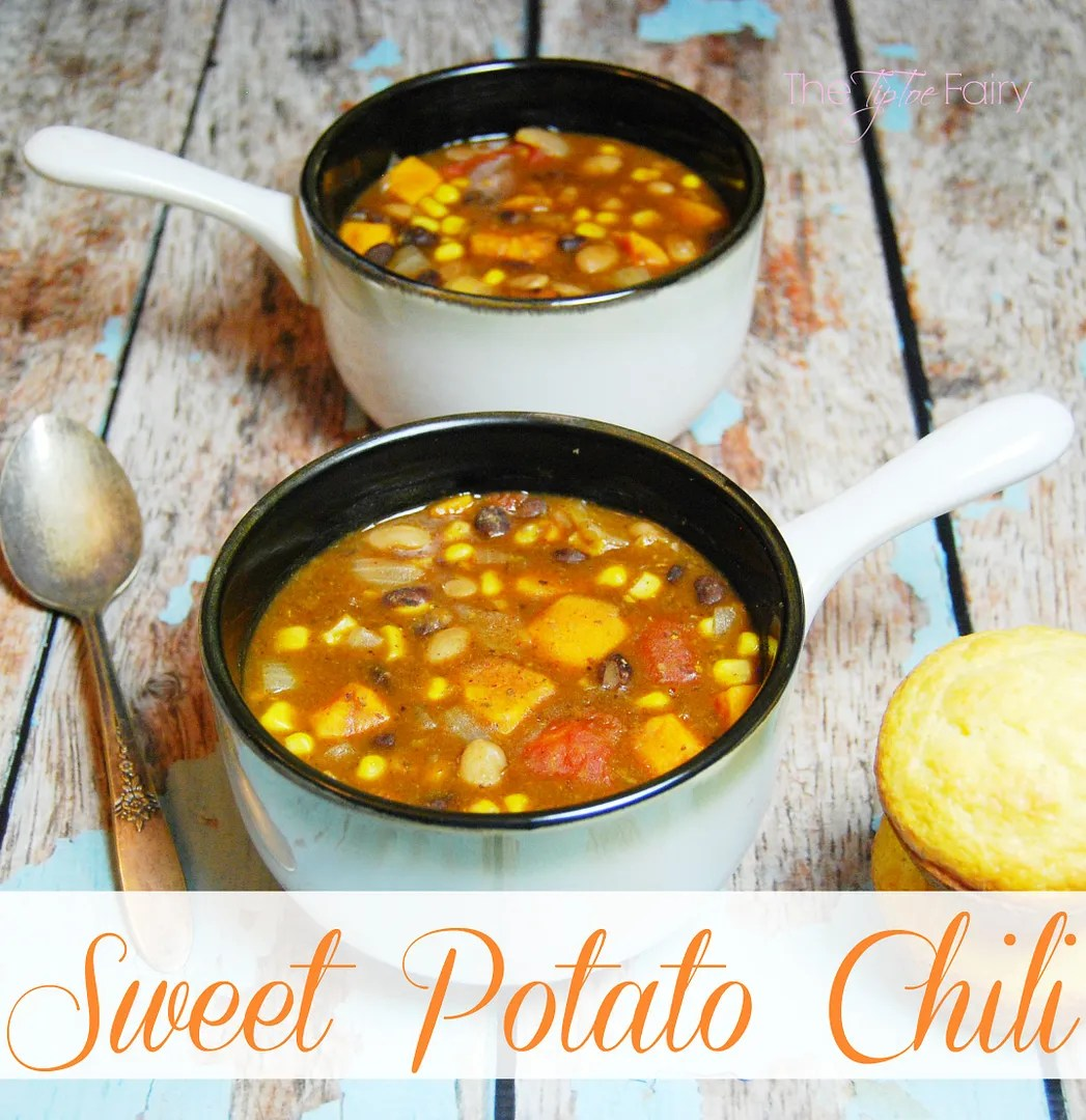 Heart Vegetarian Sweet Potato Chili and Healthy Living. Need a delicious healthy meal that's so filling for the season?   The TipToe Fairy #SimplyHealthy #ad #chilirecipes #vegetarian