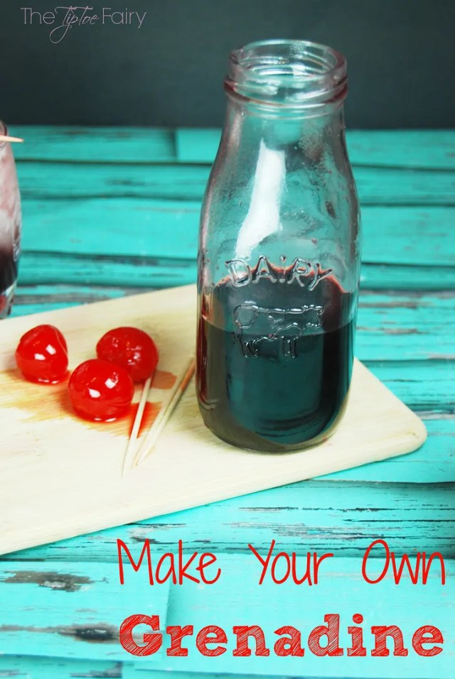 Cherry Bomb Skinny Cocktail - A grown up kinda Shirley Temple drink perfect for Valentine's Day with your sweetie.  With homemade skinny grenadine and limeade vodka! Learn how to make your own Grenadine! It's so easy! | The TipToe Fairy #drinks #cocktails