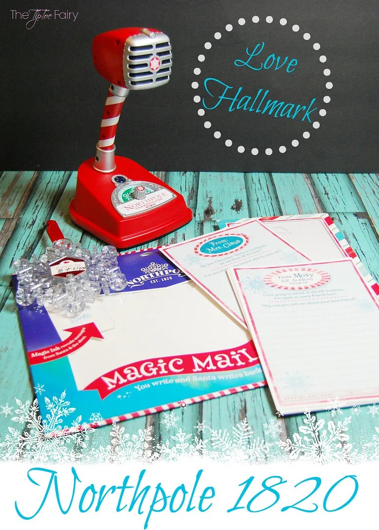 Love Hallmark sent us some wonderful gifts from the Northpole 1820 line - Northpole Communicator Interactive Microphone, Find me Santa! Snowflake ornament, and Santa's Magic Mail Stationary | The TipToe Fairy #Northpole #Hallmark