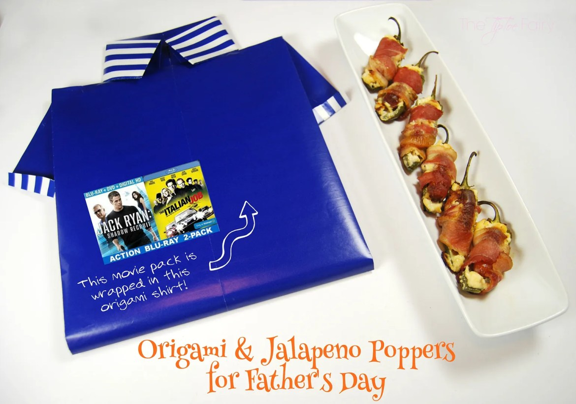 Father's Day, Orgami Wrapping, and Jalapeno Poppers | The TipToe Fairy #shop #JackRyanBluRay #shop