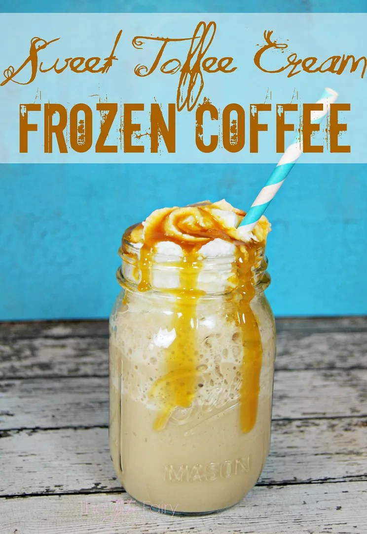 IcedDelight Sweet Toffee Cream Frozen Coffee | The TipToe Fairy #coffeedrinks #coffeerecipes