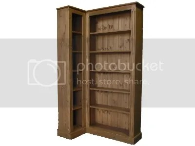 New Solid Pine Corner L Shaped Bookcase Any Size Made Ebay