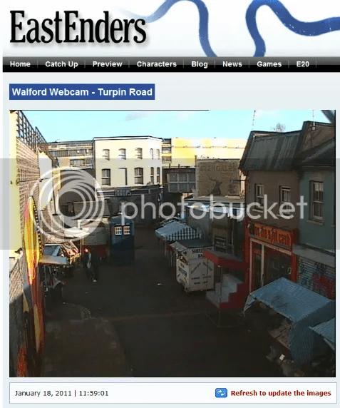 Doctor Who in EastEnders? TARDIS in Albert Square?
