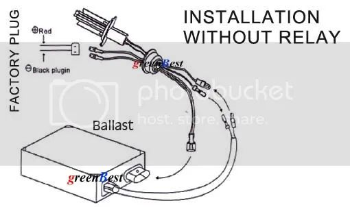 hid ballasts connected to hid relay kit