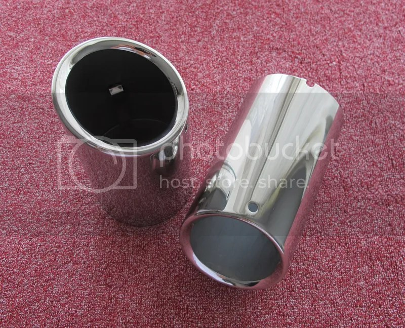 Chrome Exhaust Muffler Pipe Tip Tailpipe For Volvo S60