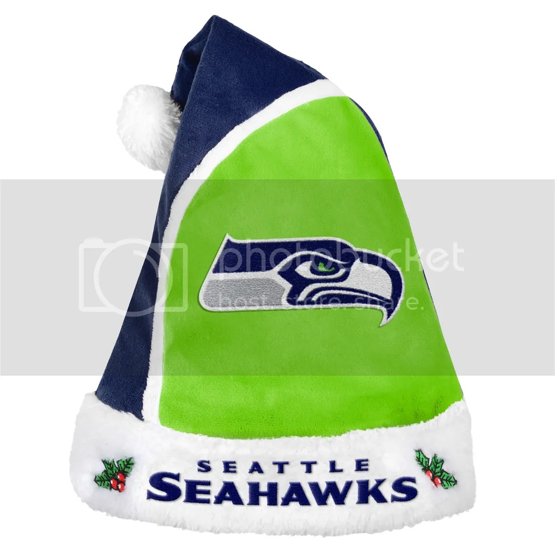 Seattle Seahawks Official NFL Christmas Santa Hat by Forever Collectibles 199699