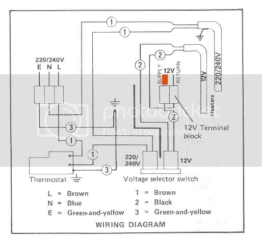 wiring diagram electrolux caravan fridge