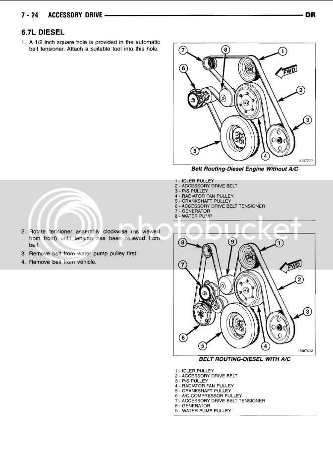 67 serpentine belt HELP! - Dodge Cummins Diesel Forum