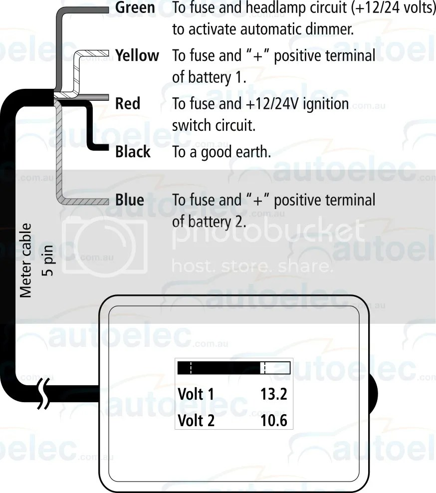fuse set up auto electrical wiring diagramprojecta dual battery system monitor volt meter dbm100 12v