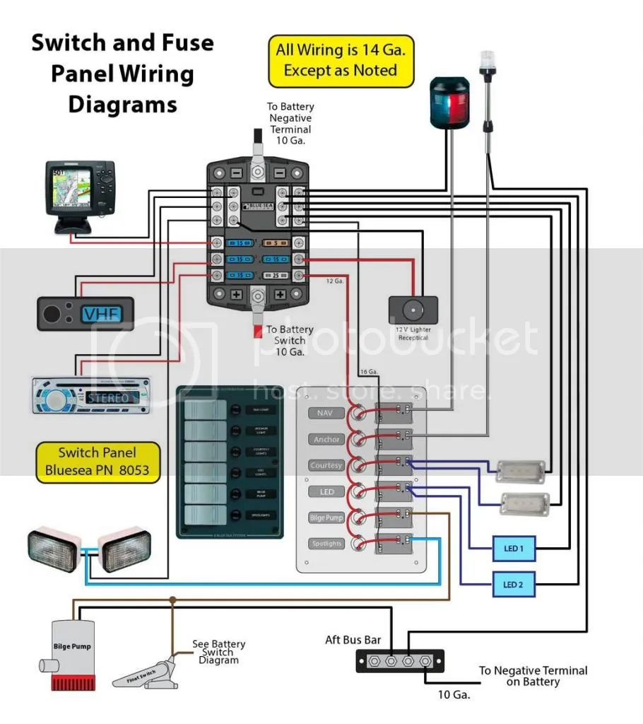 basstracker boat wiring diagram