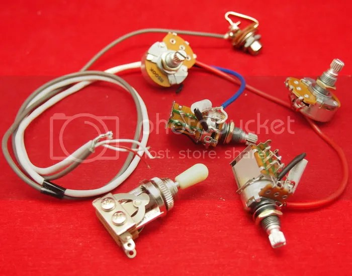 Real Epiphone Pro Wiring Harness Push Pull Alpha Pots Switch Fit