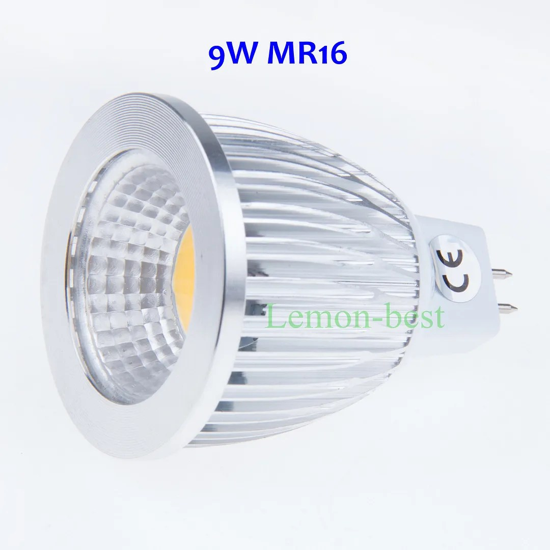 Gu10 C Dimmable 12w 9w 6w Gu10 E27 Mr16 Cob Led Bulb Cool Warm