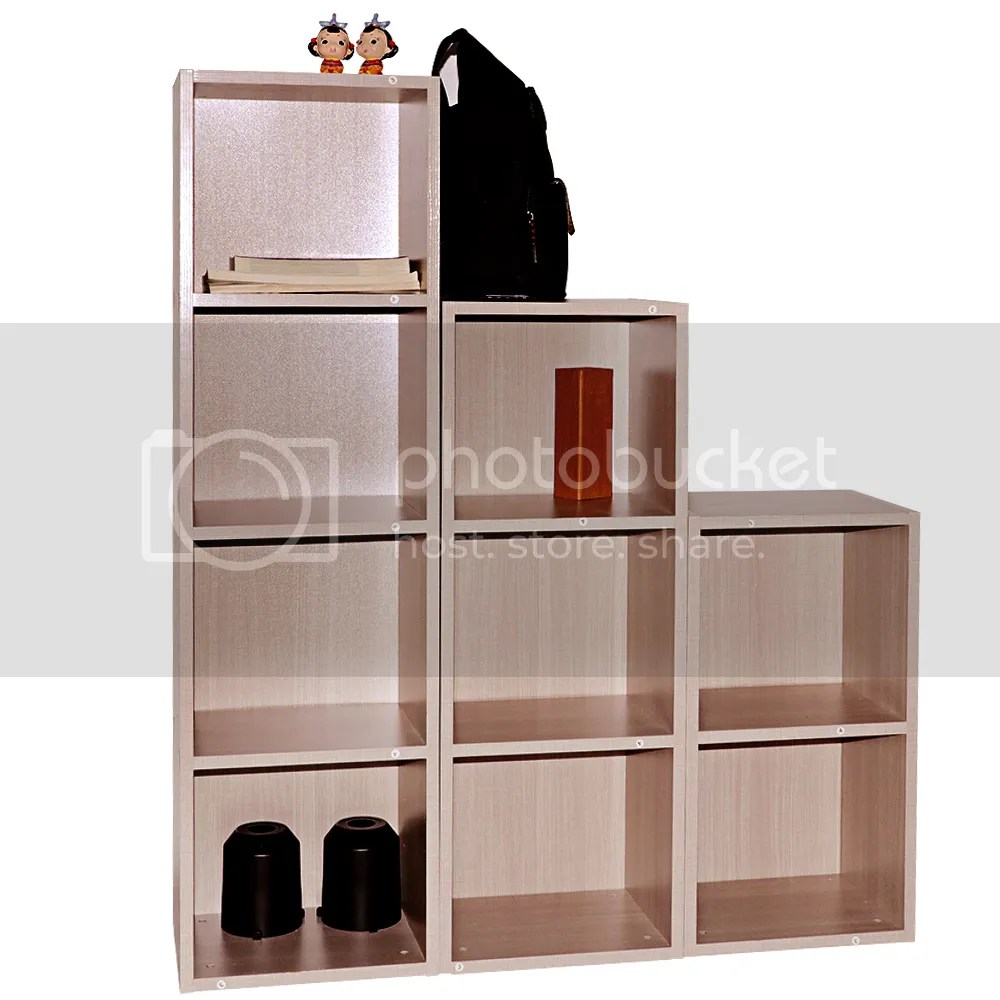 2 3 4 Tier Solid Wooden Bookcase Shelving Display