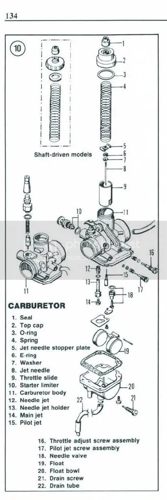 Mikuni carb on J416 Suzuki engine tuning info and specs HELP