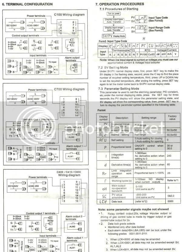 rex c100 pid ledningsdiagram