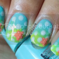Summer beach look nail art tutorial