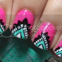 Tribal / Aztec nail art