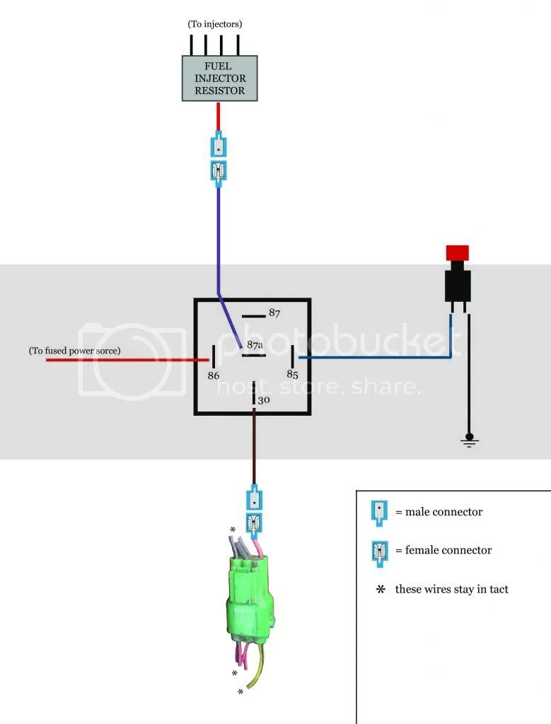 5 pin relay wiring diagram normally open
