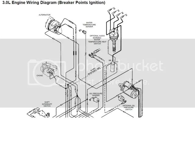 mercruiser ignition coil bedradings schema