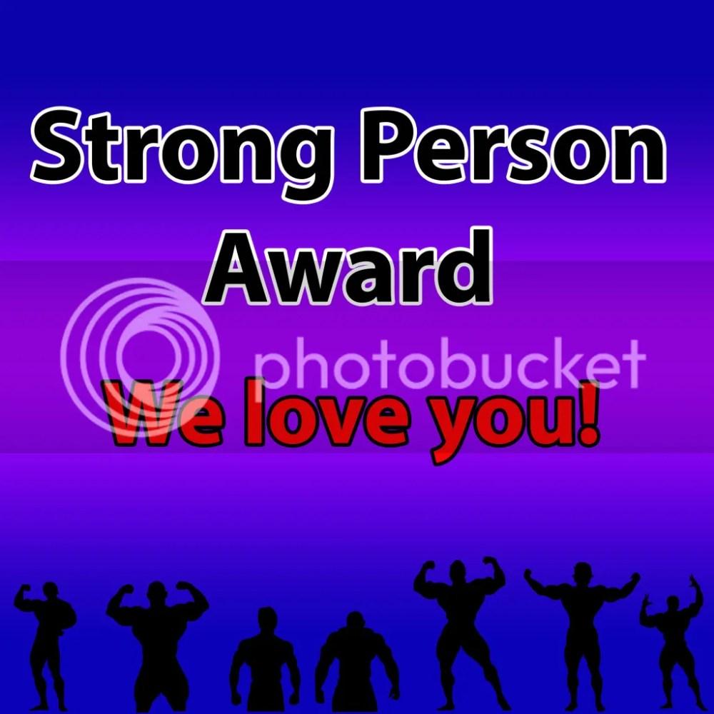 Strong Person Award (1/2)