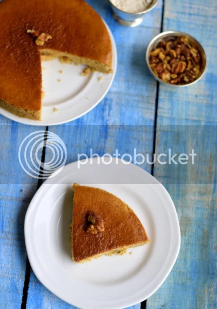 Whole wheat walnut cake 1