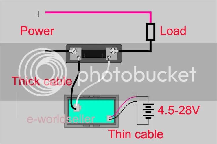 digital panel meter wiring diagram digital ammeter connection