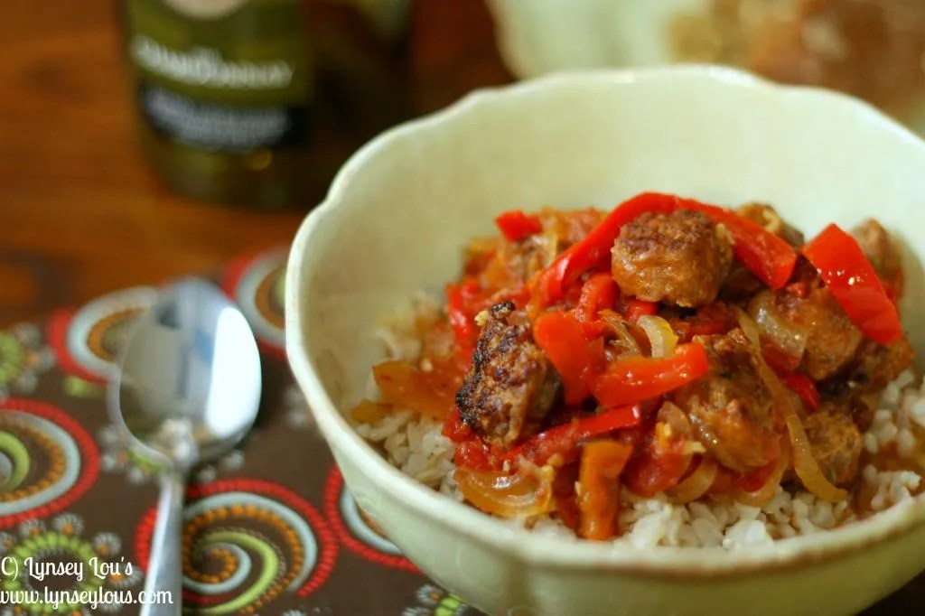 Lynsey Lou'S: Crockpot Sausage, Peppers, And Onions